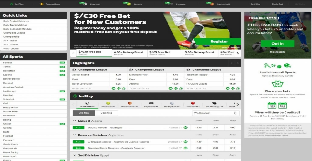 Betway Sportsbook Review